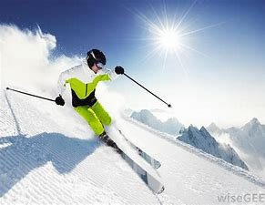 Image result for image downhill skier on first run on double blacks