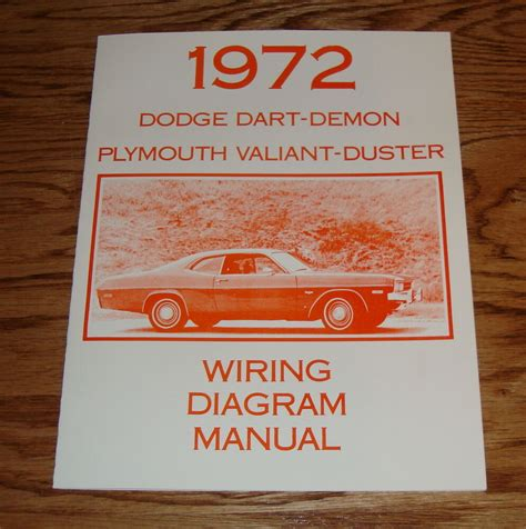 DODGE DART DEMON PLYMOUTH VALIANT DUSTER WIRING