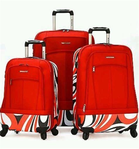olympia kauai red piece durable hybrid spinner luggage