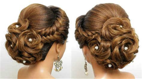 bridal hairstyle for long hair wedding updo tutorial