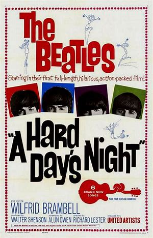 Image result for the beatles a hard day's night movie poster