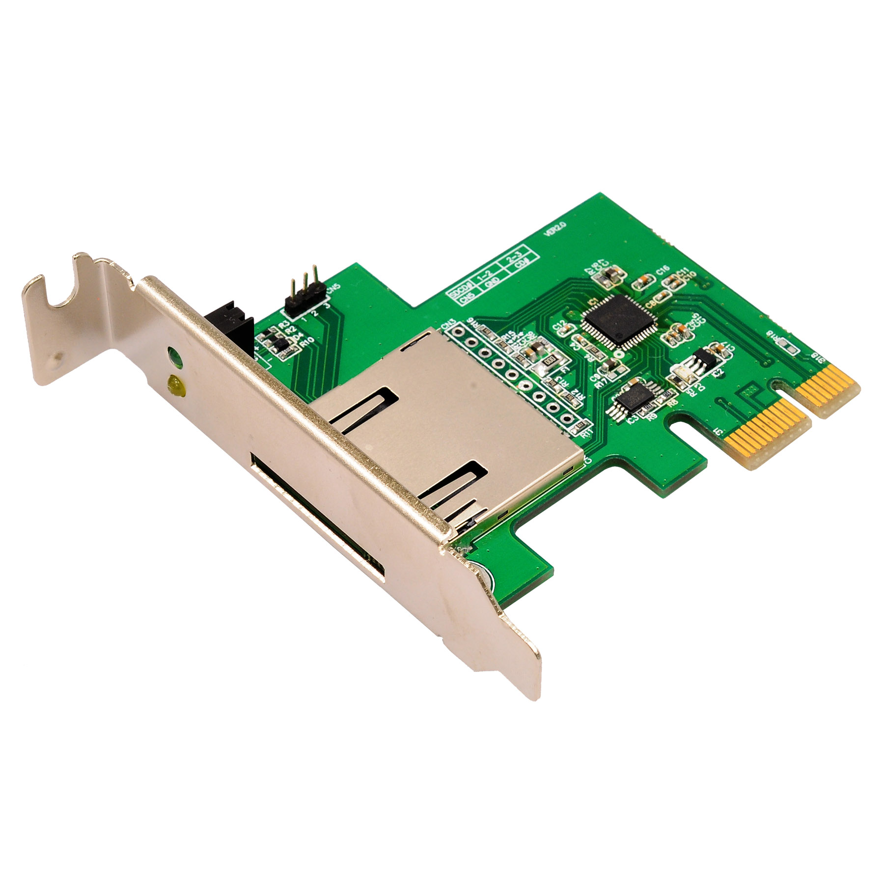 PCIe card reader example