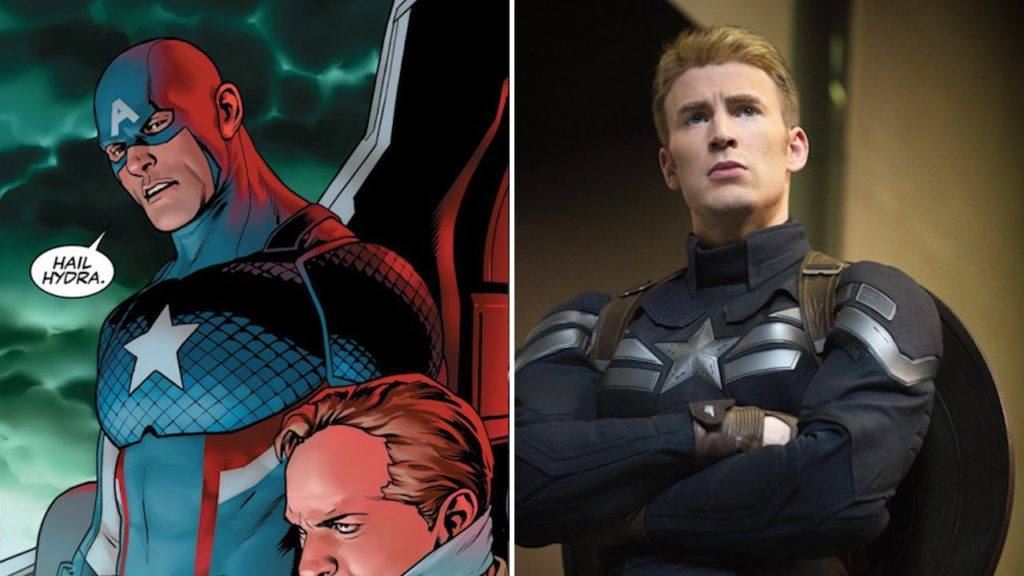 """4. In one of the comics, Cap tries to kill one of his allies. Then he utters, """"Hail Hydra.""""It was shocking. In WW2, Captain America fought for Jews against Nazis. And for him to say """"Hail Hydra"""" was just against what he stands for."""
