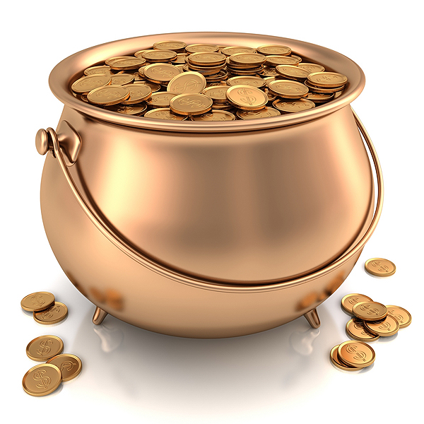 Picture of Gold Pot with Gold Coins