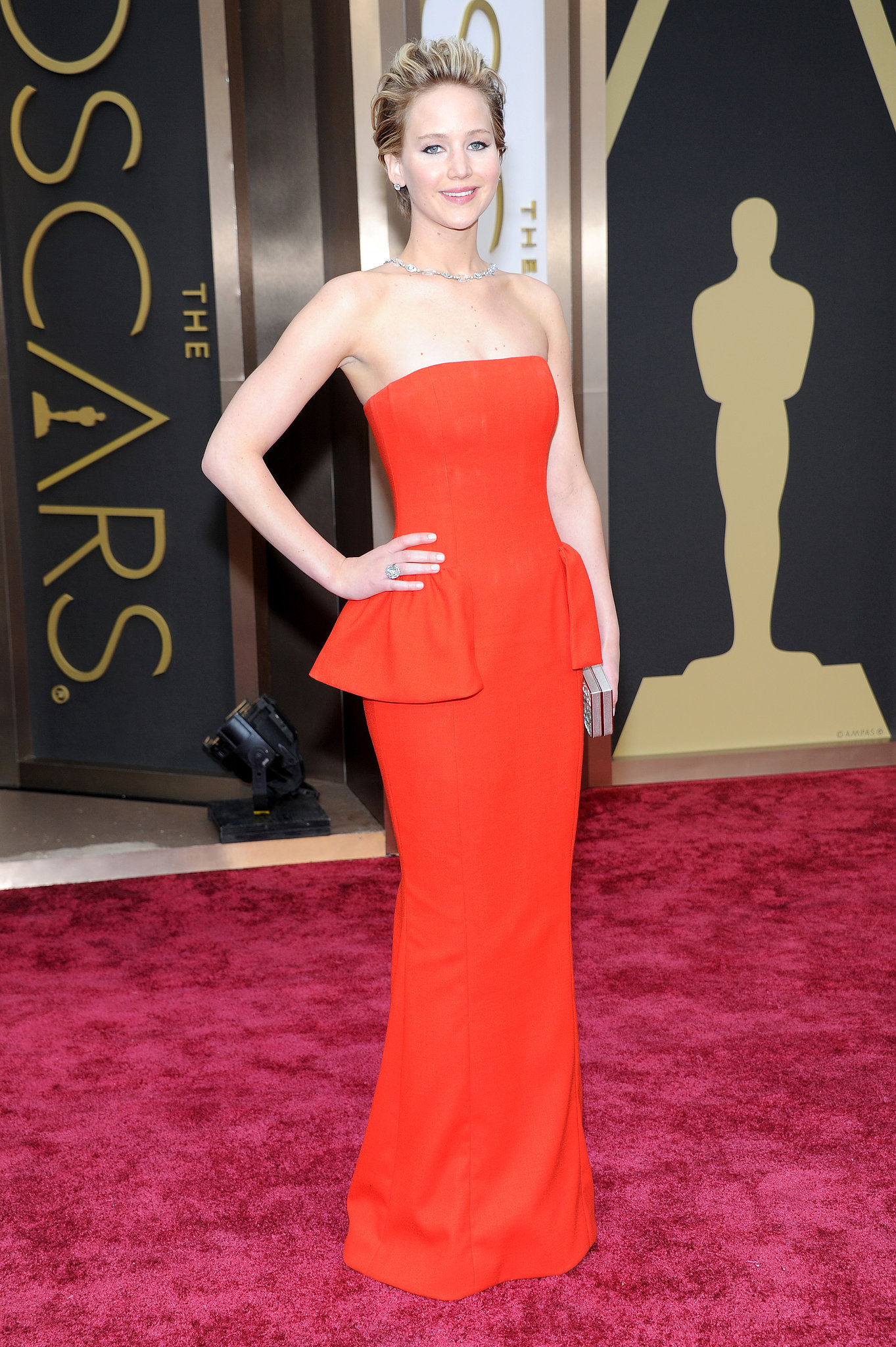 Vẽ Jennifer Lawrence tại lễ trao giải Oscar 2014