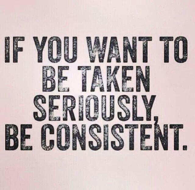 lack of consistency