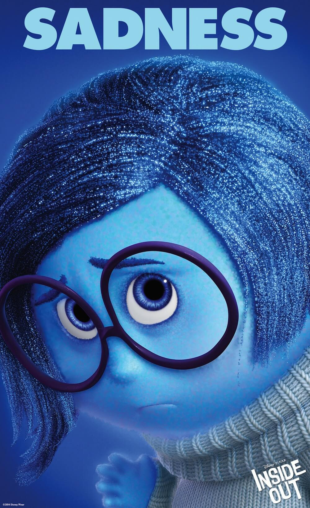 Inside out is a Disney Movie about 5 major emotions in a person. The poster has Sadness, the blue girl with big round glasses. Sharing this for Jayanthy's Free Space post on Emotions in times of Corona.