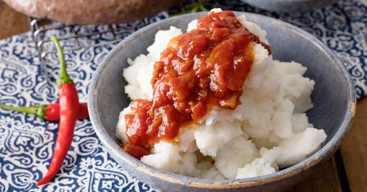 Pap: National Dish of Lesotho
