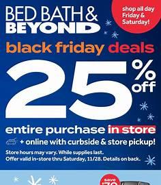 Bed Bath & Beyond Black Friday 2020 flyer image