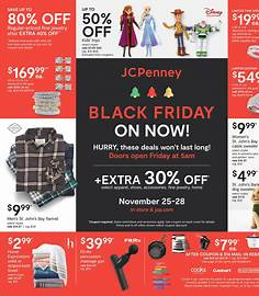 JCPenney Black Friday 2020 flyer image