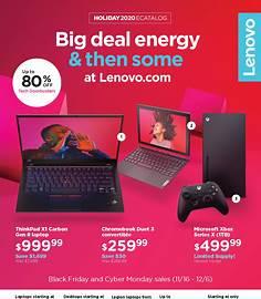 Lenovo Black Friday 2020 flyer image