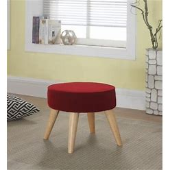 ORE International Maxwell Foot Stool, Red By Ashley Homestore, Furniture > Kitchen And Dining Room > Barstools > Set Of Two. On Sale - 49% Off