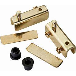 Rockler Glass Door Pivot Hinge - Polished Brass (Pair)