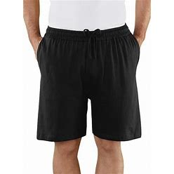 Men's Cotton Lounge Shorts By Freedom Fit Zone Black Large