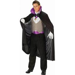 Purple Vampire Deluxe Men's Adult Halloween Costume, Size: 33-42