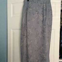 Worthington Skirts | Worthington Long Lined Skirt | Color: Blue | Size: 8 Tall