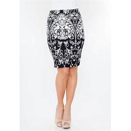 White Mark Pretty And Proper Pencil Skirt - Blackwhite