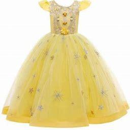 HiMONE Flower Girls Dress Kids Girls Wedding Party Dresses Mesh Floral Ball Gown Tutu Tulle Dresses Communion Formal Clothing, Girl's, Size: Height