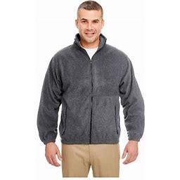 Ultraclub Men's Iceberg Fleece Full-Zip Jacket, Style 8485, Size: Medium, Gray