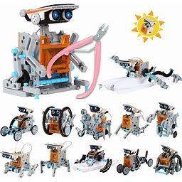 Ihaha Solar Robot Kit With Plier, 12 In 1 STEM Science Kit Toys For Kids, Learning Building Educational Science Gifts Toys For 8 9 10 11 12 + Year