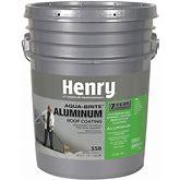 Henry Aluminum Roof Coating,Silver,Matte,5Gal. Model: HE558018