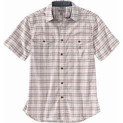 Carhartt Men's Rugged Flex Relaxed Fit Lightweight SS Plaid Shirt - Small Regular - Malt