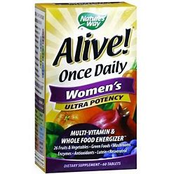 Nature's Way Alive! Once Daily Women's Ultra Potency Multivitamin, Tablets - 60.0 Ea