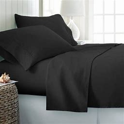 Simply Soft Bed Sheet Set By Ienjoy Home, Size: Twin-XL, Black