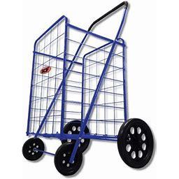 Megacart Fold-Up Collapsible Shopping Utility Cart By SCF (Blue), Size: Jumbo