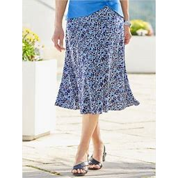 Draper's & Damon's Women's Plus Coastal Spirit Skirt, Multi 1X