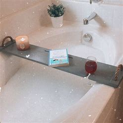 Gray Bathroom Decor/Handmade Wooden Bath Tray/ Wood Bathtub Board/Wine Rack