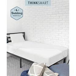 Sensorpedic Thinksmart By Sensorpedic Bedding Essentials Bundle With Mattress Topper, Pillow And Mattress Protector Full - White