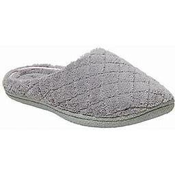 Dearfoams Women's Quilted Clog Slippers - Lesli E, Size Medium Wide, Medium Grey