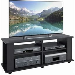 Corliving Fillmore TV Stand For TVs Up To 57 Inch, Ravenwood Black, Size: For TVs Up To 57