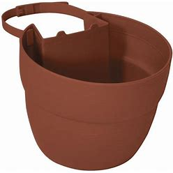 Lowe's 7.5-In W X 6-In H Terracotta Plastic Hanging Planter In Brown   2461-1