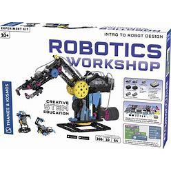 Thames & Kosmos Robotics Workshop Model Building & Science Experiment Kit | Build & Program 10 Robots With Ultrasonic Sensors | Program & Control