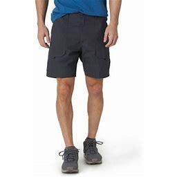 Wrangler Men's And Big Men's Outdoor Back Elastic Stretch Hiker Short, Size: 46, Black