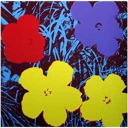 "Andy Warhol ""Flowers 11.71"" Serigraph Art Print On Paper (36 X 36)"