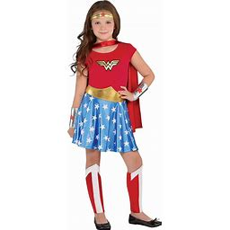 Costumes USA Wonder Woman Costume For Girls, Includes A Dress, A Headband, Leg Warmers, A Cape, And More