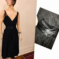 Jackqueline Quinn Dresses | Lbd Taffeta Dress By Jacqueline Quinn | Color: Black | Size: 8