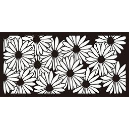 Metal Privacy Screen, Laser Cut Decorative Steel Privacy Panel Metal Fencing, Hanging Room Divider Partitions Panel Screen,48X24in 010, Black