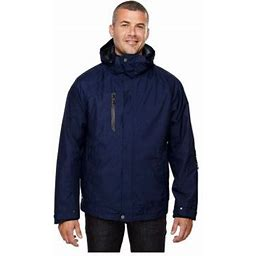 Ash City North End North End Men's Waterproof Tricot Soft Shell Liner Jacket, Style 88178, Size: Small, Blue