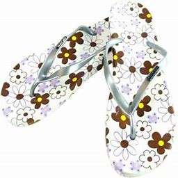 Booobe Women Summer Cute Colorful Flower Printed Pattern Casual Thong Flat Flip Flops Sandals, Women's, Size: Large, Brown