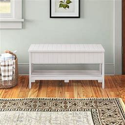 Andover Mills™ Toucha Wood Storage Bench Color: White