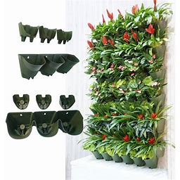 Worth Self Watering Vertical Garden Planter, Grows Native Perennials, Flowering Annuals, Succulents, Tropicals, House Plants, Herbs, And Yummy.., By