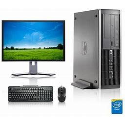 Refurbished - HP DC Desktop Computer 2.9 GHz Core 2 Duo Tower PC, 4gb, 250gb Hdd, Windows 10 X64, 19 Inch Monitor , USB Mouse & Keyboard