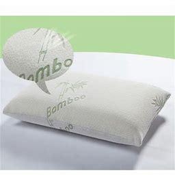 Memory Foam Pillow King Size, Premium Firm Hypoallergenic Bamboo Fiber Memory Foam Pillow King (Single/Nantong), White