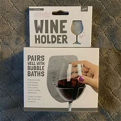Sipski Bath | Sipski Wine Holder For Bath Or Shower | Color: Gray | Size: Os