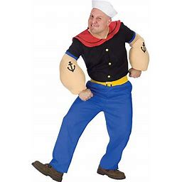 Popeye Adult Costume Mens Costume, One Size , White