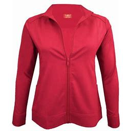 Natural Uniforms Women's Ultra Soft Front Zip Warm-Up Scrub Jacket 5200 (Red, 3X-Large), Adult Unisex, Size: 3XL, Blue